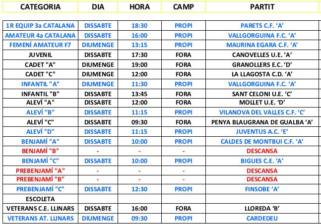 PARTITS 11 - 12 DE MARÇ