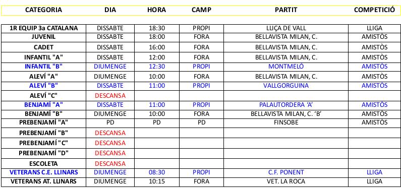 PARTITS 23-24 DE SETEMBRE