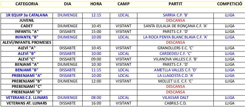 PARTITS 24-25 MARÇ